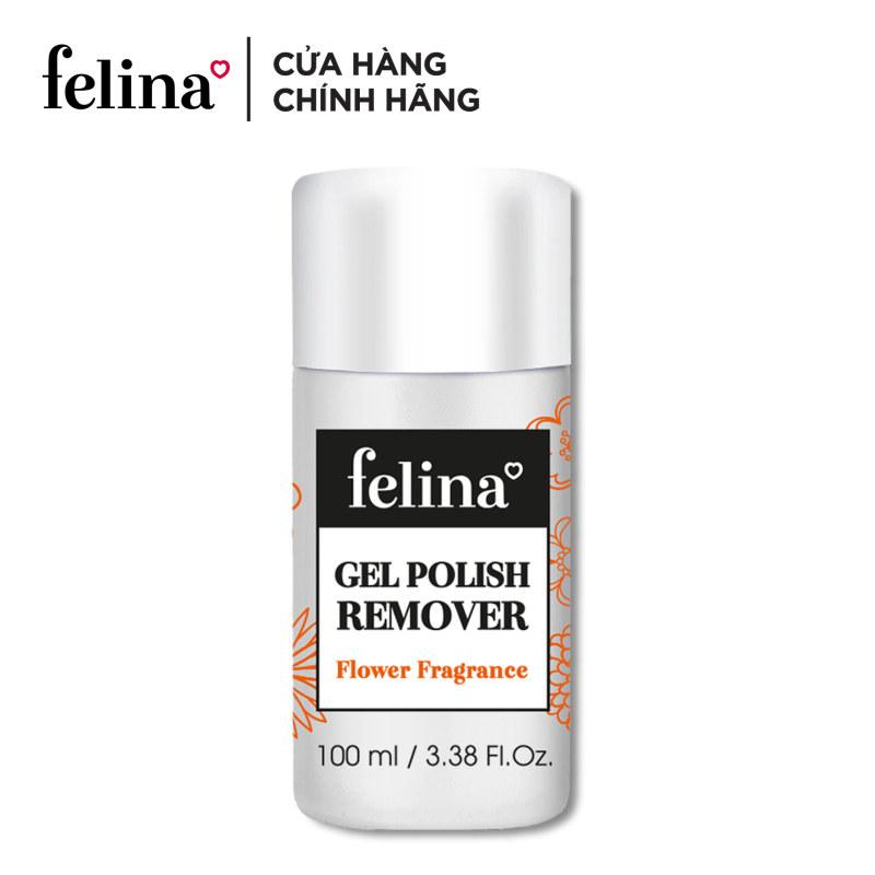 Nước tháo gel cao cấp Felina 100ml, dưỡng chất Keratin rất giàu vitamin A,C,E giúp nuôi dưỡng móng luôn chắc khỏe, sáng bóng, không aceton, hương thơm dịu nhẹ