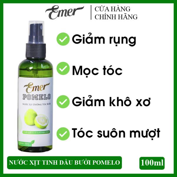 Nước xịt dưỡng tóc tinh dầu bưởi kích mọc tóc Pomelo Emer 100ml giúp giảm rụng tóc, kích mọc tóc nhanh, cung cấp dưỡng chất cho tóc luôn chắc khỏe và suôn mượt tự nhiên