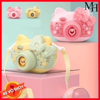 [TẶNG KÈM 2 LỌ TẠO BONG BÓNG] Đồ chơi tự động thổi bong bóng tạo hình máy chụp ảnh nơ kitty dễ thương rất đẹp mắt, sung bắn bong bóng xà phòng cho bé thumbnail