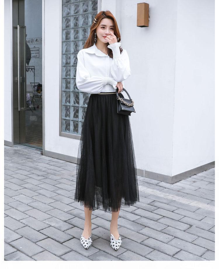 Deal Ưu Đãi Váy Nữ Lưới Sợi Váy Đuôi Cá Lớn Đầm Váy Đồng Màu Váy Cổ Tích Skirt