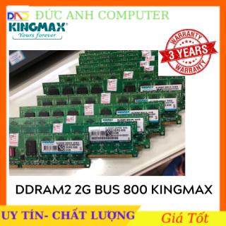 Ram 2G bus 800 - DDR2 - Chính Hãng KINGMAX - bảo hành 3 năm, 1 Đổi 1 - Chân Vàng Óng Ánh thumbnail