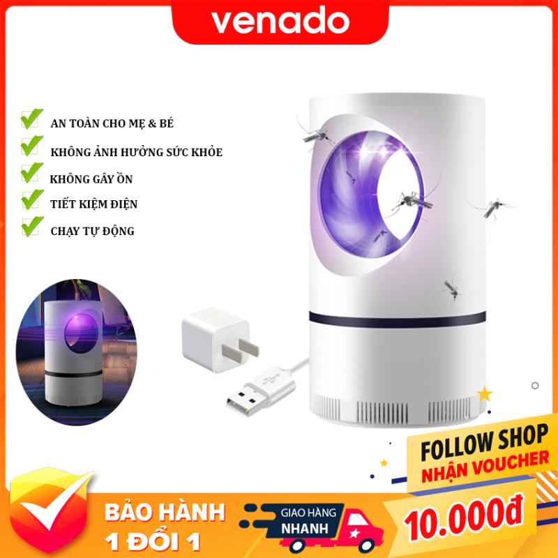 Đèn bắt muỗi thông minh led 360 độ hình Trụ - Venado Không dùng hóa chất, không gây hại sức khỏe, an toàn cho mẹ và bé