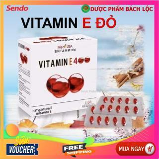 [Hộp 100 viên] Viên Uống Đẹp Da Vitamin E đỏ thành phần 4000mcg nhập khẩu Nga sáng mịn da, chống lão hóa - 3