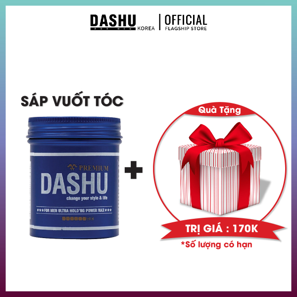 Wax hair Clay size mini Dashu for men ultra holding power 100ml, sáp vuốt tóc cao cấp giá rẻ tạo kiểu Nam Hàn Quốc, có hướng dẫn cách vuốt sáp, cách sử dụng, so sánh, lựa chọn sáp phù hợp các loại tóc khô, tóc dày, mỏng, vừa. giá rẻ
