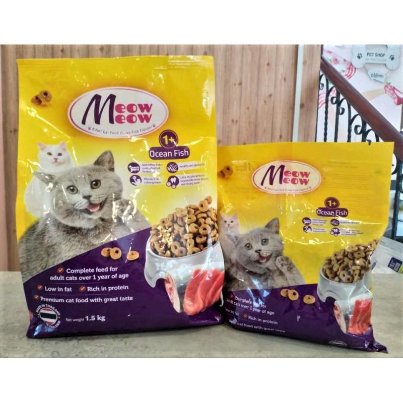 Thức ăn hạt khô cho mèo Meow Meow Thái Lan