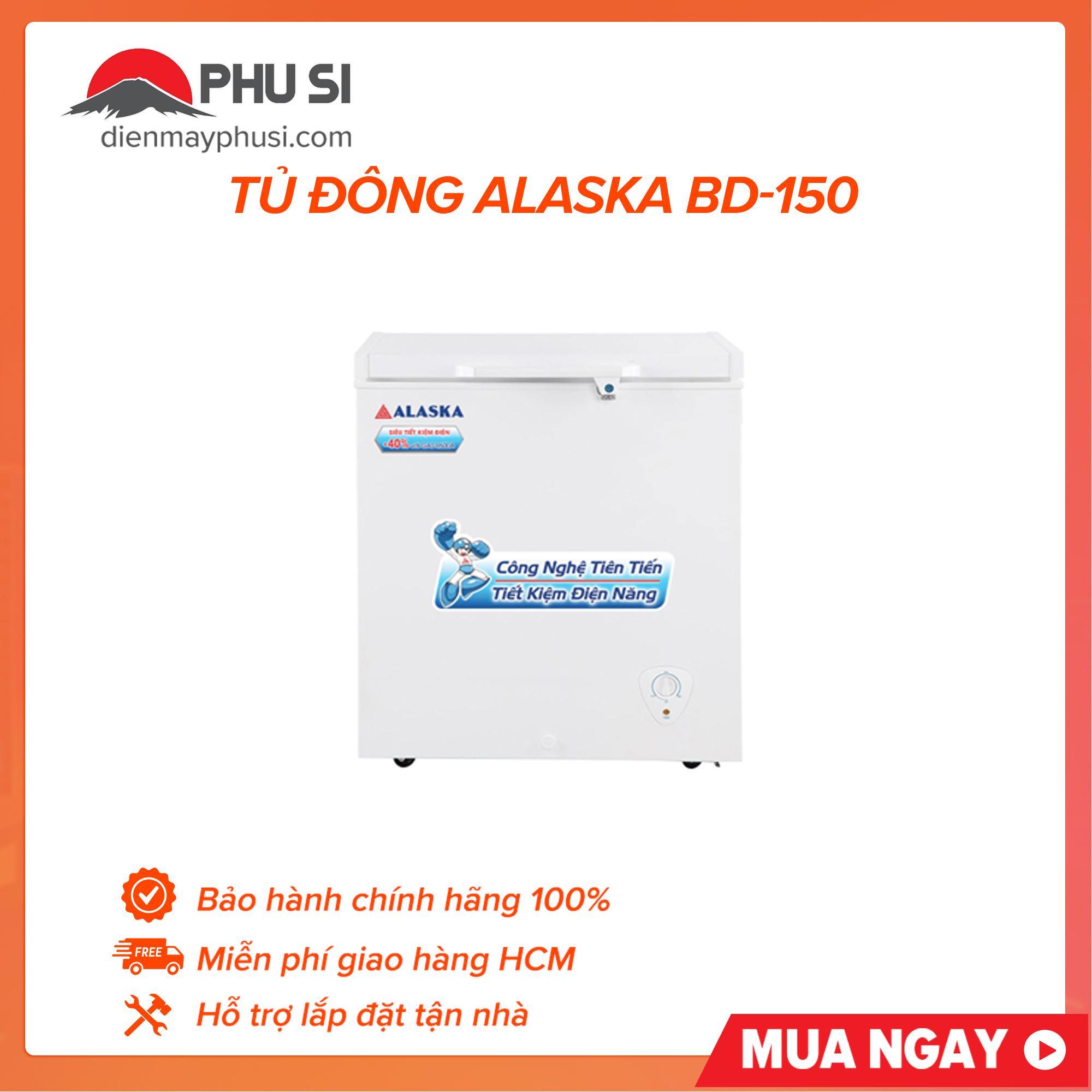 Tủ đông mini Alaska 150 lít BD-150