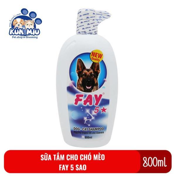 Sữa tắm cho chó mèo Fay 5 sao 800ml - Dầu tắm Fay 5 sao 800ml