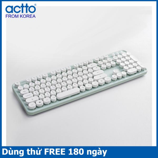 Bảng giá Bàn phím không dây thiết kế Retro, khoảng cách kết nối 10m- Retro Wireless Keyboard Actto KBD-48 Phong Vũ