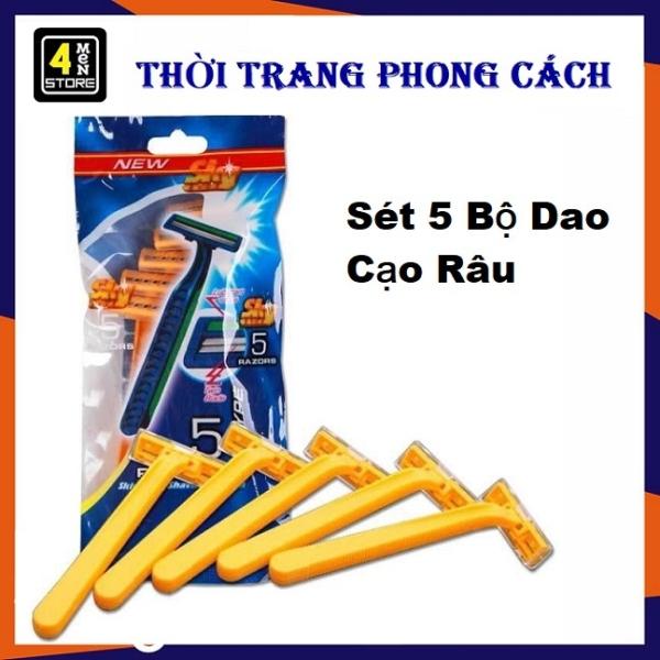 ⚡ Sale Đậm ⚡ Sét 5 Dao Cạo Râu - Combo 5  Dao Cao Râu Cho Phái Mạnh