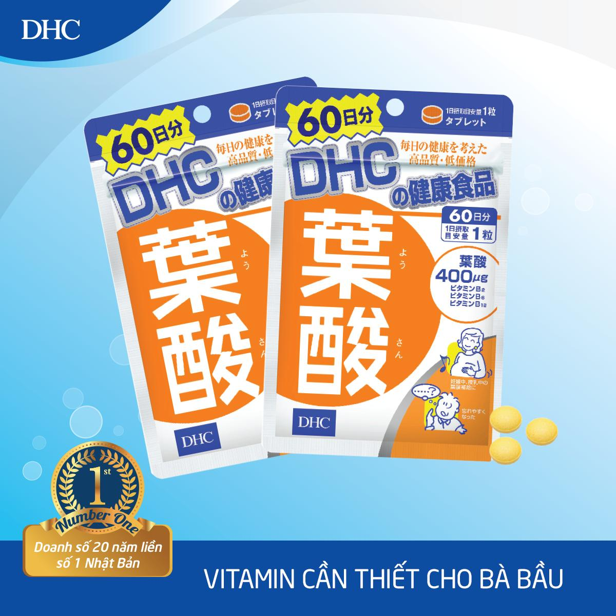 Viên uống cho Bà bầu DHC Folic Acid 60 Ngày nhập khẩu