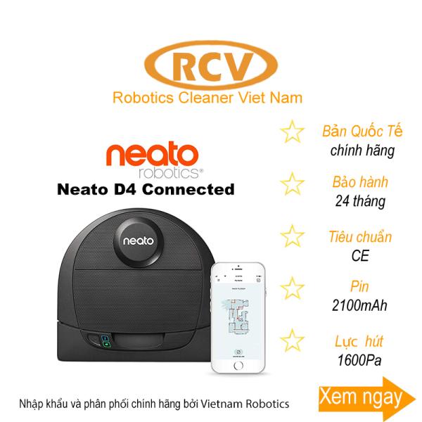 [HCM]Robot hút bụi tại Mỹ Neato D4 Connected - Bản Quốc Tế - Mới 100%