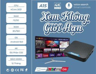 VINABOX A15B RAM 1G 2G PHIÊN BẢN 2021 SỬ DỤNG GIAO DIỆN ATV HỆ ĐIỀU HÀNH ANDROID 10, FULL ỨNG DỤNG thumbnail