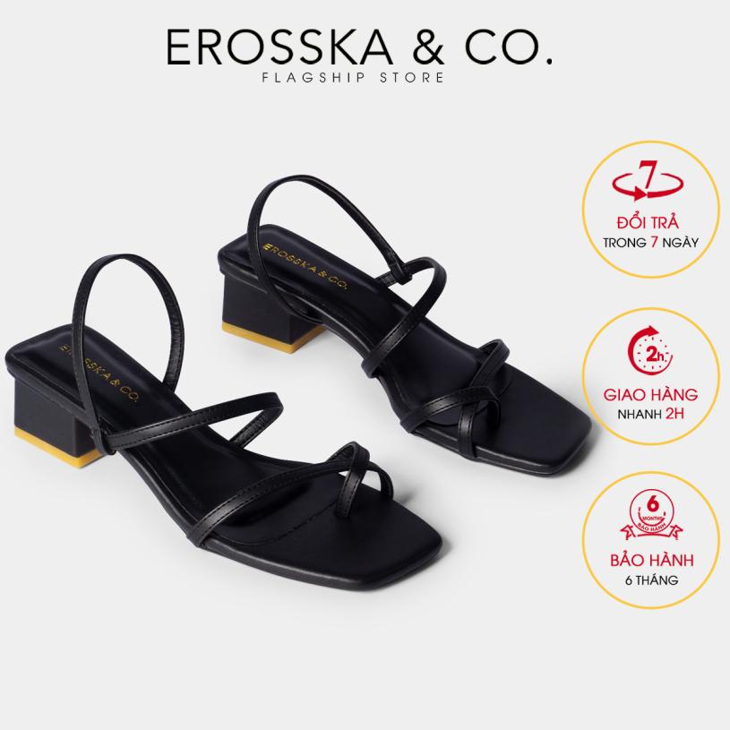 Giày sandal cao gót nữ Erosska kiểu dáng xỏ ngón dây mảnh thời trang cao 5cm EB024 (BA) giá rẻ