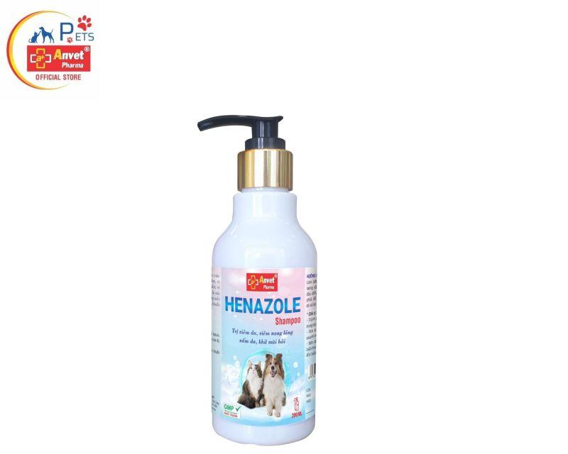 HENAZOLE - Sữa tắm diệt ve, ghẻ, viêm da, viêm nang lông cho chó mèo