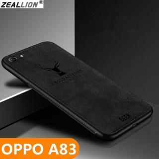 Ốp lưng zeallion cho Oppo A83 A1, Ốp điện thoại họa tiết tuần lộc trên vải dù dệt mềm, phong cách cổ điển thumbnail