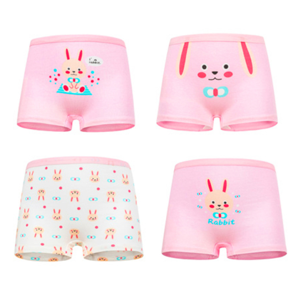 Set 4 quần chip đùi cho bé gái 2-12 tuổi chất cotton mềm mại co giãn tốt họa tiết theo chủ đề đủ màu sắc đáng yêu BBShine – C015