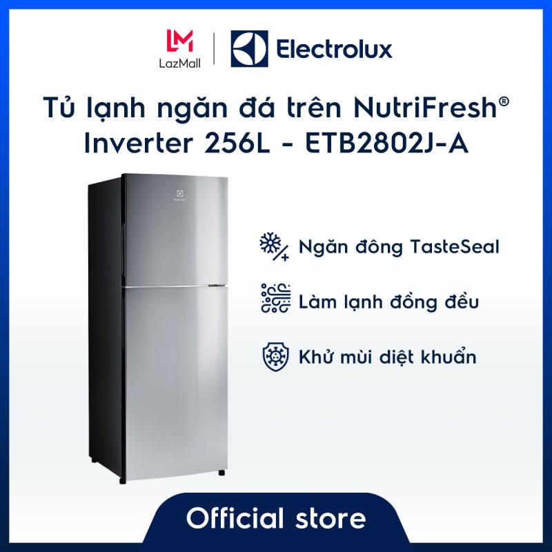 Tủ lạnh Electrolux 256L ETB2802J-A   – Thiết kế châu Âu – Ngăn đông mềm giữ thực phẩm tươi ngon – Khử mùi diệt khuẩn - Hàng chính hãng