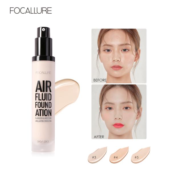 Kem nền FOCALLURE mềm mịn chuyên nghiệp giúp che khuyết điểm dưỡng ẩm da giữ màu lâu trôi không thấm nước - INTL