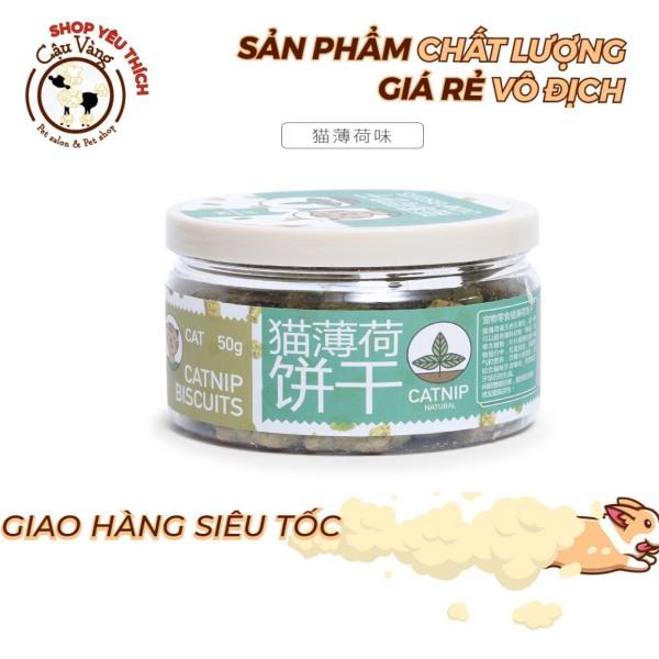 Bánh thưởng Canip Thơm Ngon 50 gr cho mèo (Bánh quy cá rong biển)