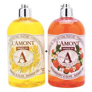 2 chai Sữa Tắm LAmont Hương Dâu tây và Hương Hoa Mimosa - 500ml chai thumbnail
