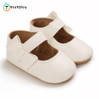 Tootplay 1 Đôi Giày Em Bé, Giày Trẻ Tập Đi Đế Cao Su Mềm Pu Cho Bé 3-12 Tháng Tuổi