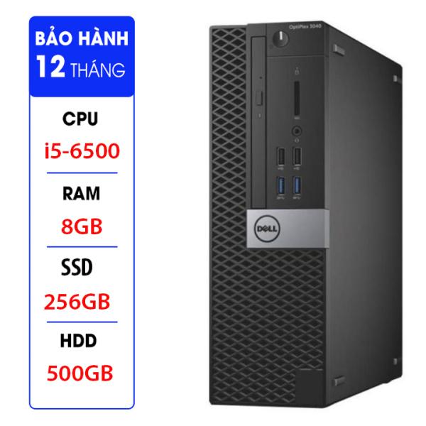 Bảng giá Case máy tính Dell Optiplex 3040 SFF core i5 6500 ram 8GB, SSD 256GB,HDD 500GB + Quà Tặng USB thu WIFI. Bảo hành 12 tháng. Hàng Nhập Khẩu Phong Vũ