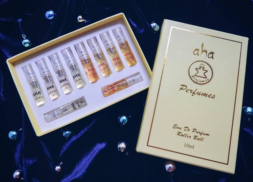 Set 10 nước hoa nữ AHAPERFUMES (nước hoa mini) - dạng xịt - lưu hương 8h