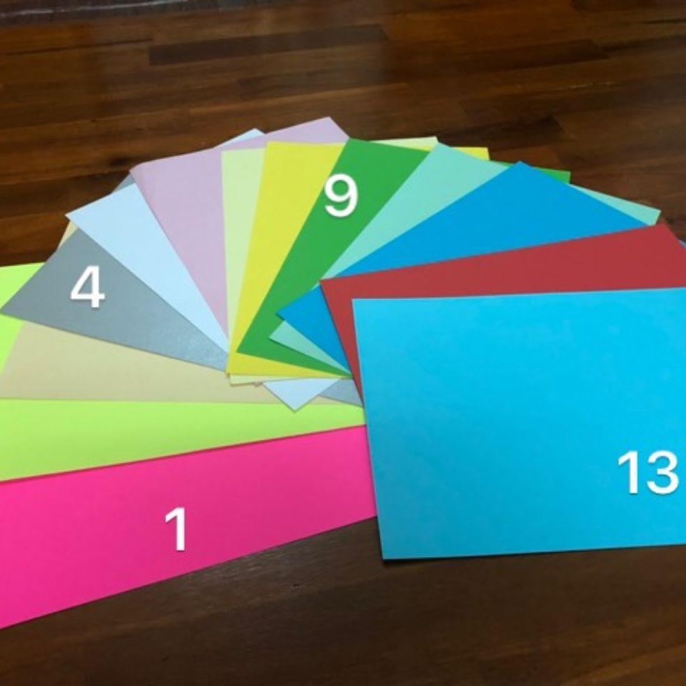 Mua Combo 5 tờ giấy bìa màu A4