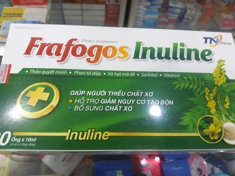 Thực phẩm bổ sung chất sơ chống táo bón Frafogos Inuline ( 20 ống* 10ml)