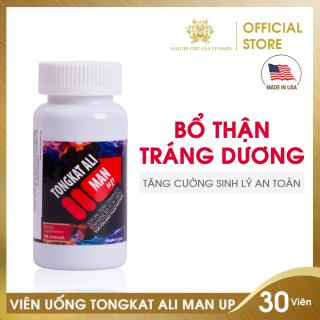 Viên Uống Bổ Thận Tráng Dương, Tăng Cường Sinh Lý An Toàn Cho Nam - Tongkat Ali Man Up - Nature Gift USA (30 viên) thumbnail