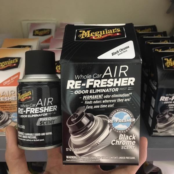 Meguiars - Khử mùi điều hòa, diệt khuẩn nội thất ô tô - Hương Black Chrome Xmen G181302