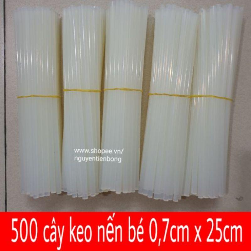 500 cây keo nến bé 0,7mm x 250mm (keo nến nhỏ)