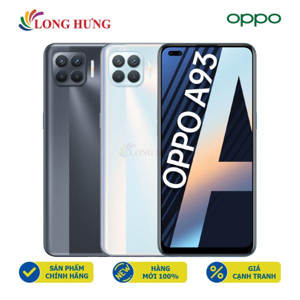 [Trả góp 0%] Điện thoại Oppo A93 (8GB/128GB) - Hàng chính hãng - Màn hình AMOLED 6.43inch Bộ 4 camera sau Pin 4000mAh cảm biến vân tay trên màn hình
