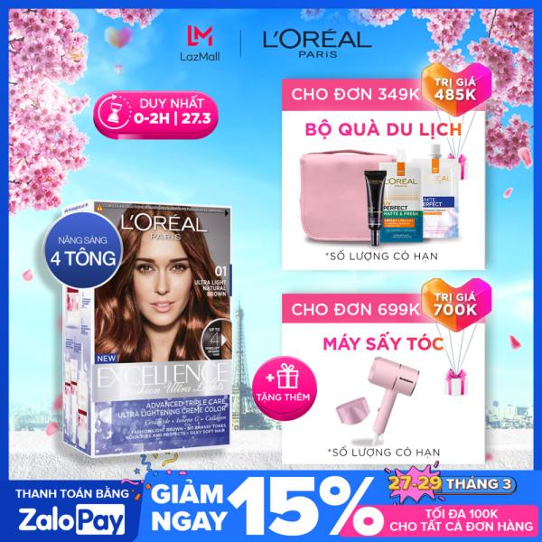 Kem nhuộm tóc nâng sáng LOreal Paris Excellence Fashion Ultra Light 172ml nhập khẩu