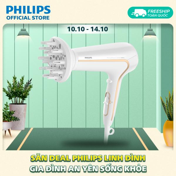 Máy sấy tóc Philips HP8232/00 2200W, 6 tốc độ linh hoạt, chức năng sấy mát (Trắng) - Hàng phân phối chính hãng cao cấp