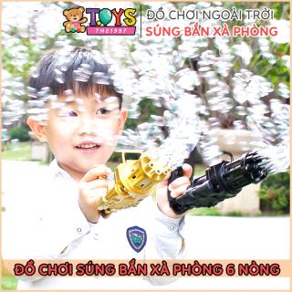 Súng bắn xà phòng 8 nòng [FREE SHIP] Đồ chơi phun bong bóng ngoài trời thổi bọt mạnh mẽ cho bé vui chơi ngoài trời Dũng Dũng 1 thumbnail
