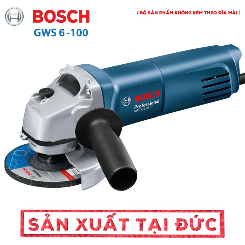 Máy mài góc BOSSH 6-100 - Đĩa cắt gắn máy mài - Lưỡi lam xích  - Công suất 670W - Trục M10 - Cắt, cưa, mài chuyên dụng - Hàng nhập khẩu Đức