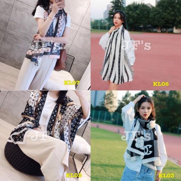 Khăn quàng cotton lanh, khăn choàng thu đông phong cách thời trang Hàn Quốc
