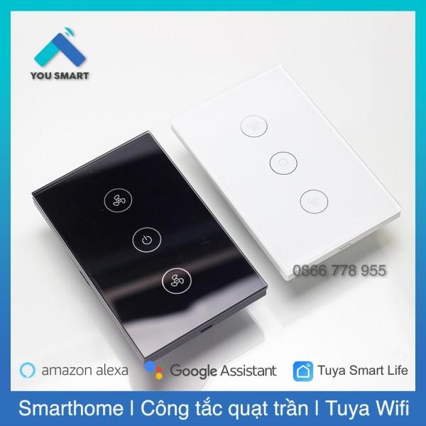 Công tắc Quạt Trần thông minh Tuya Smart Life cảm ứng Wifi-Màu đen