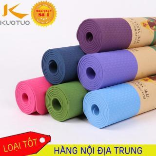 thảm tập yoga tpe 2 lớp 6mm cao cấp, chất liệu an toàn khi tiếp xúc với da, tuyệt đối an toàn kể cả cho trẻ nhỏ và phụ nữ mang thai thumbnail