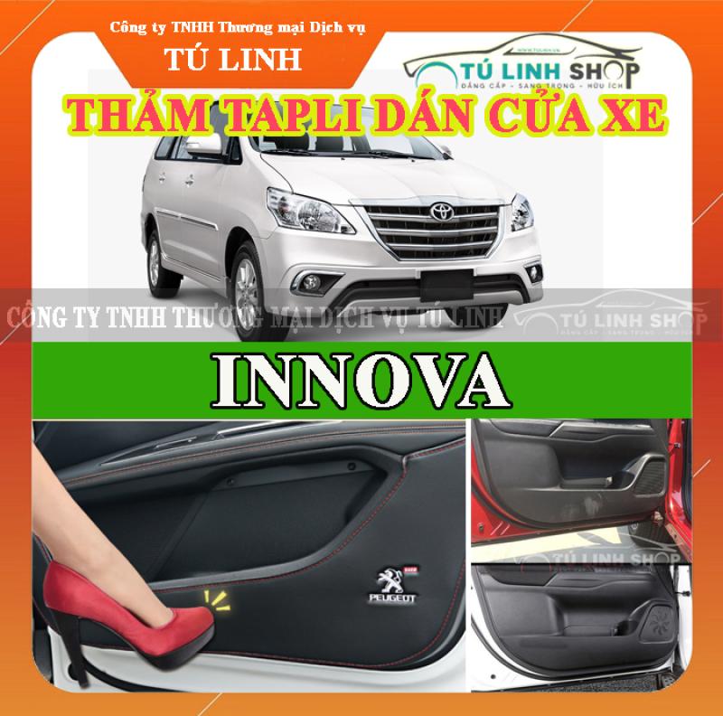 Bộ 4 Thảm Tapli dán cánh cửa chống trầy xước xe INNOVA 2016-2019