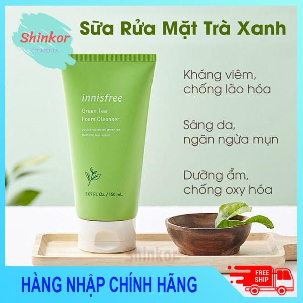 Sữa Rửa Mặt Trà Xanh Innisfree Shinkor Làm Sạch Sâu, Dữ Ẩm Tốt, Kiềm Dầu, Hạn Chế Mụn cao cấp