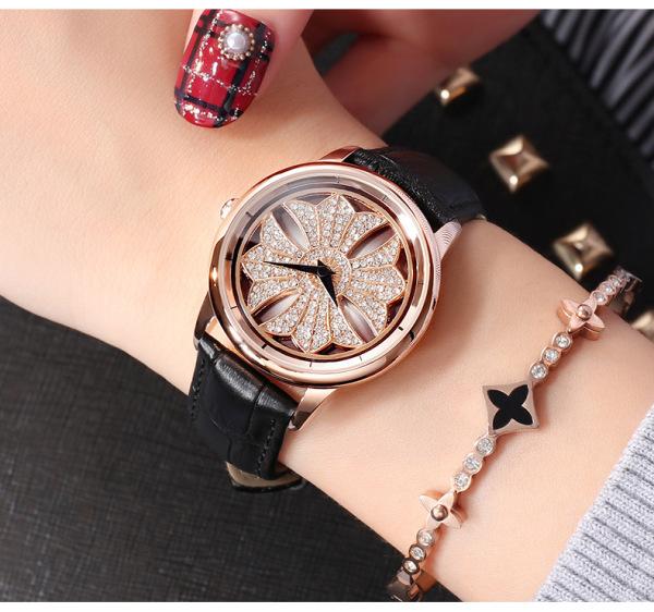 Đồng hồ nữ SANDA Spinner XOAY 360 độ độc đáo + Tặng hộp & Pin bán chạy