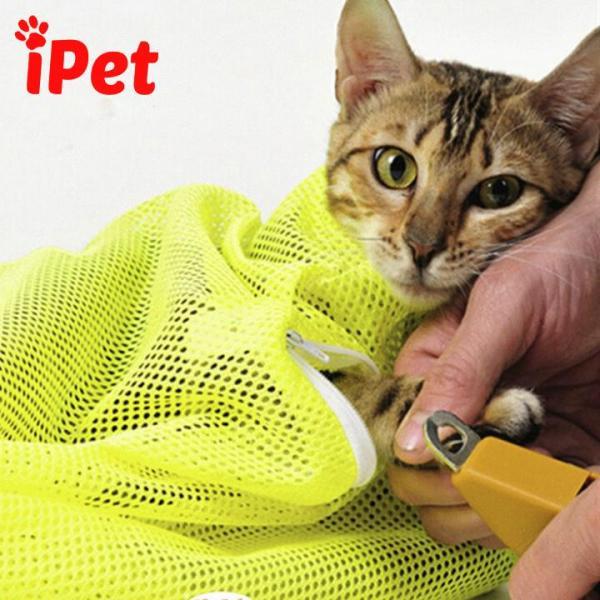 Túi Lưới Đa Năng Hỗ Trợ Tắm Mèo Tránh Bị Mèo Cào - iPet Shop