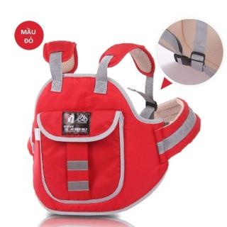 Đai đi xe máy an toàn cho trẻ trước và sau từ 1-5 tuổi - Có túi đeo thumbnail