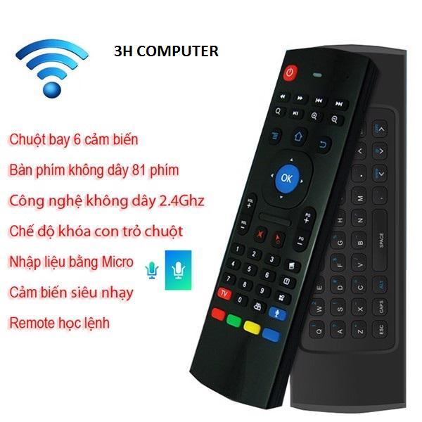 Bảng giá Chuột bay kiêm bàn phím Chuột Bay MX3 Pro - Voice Search Siêu Nhạy ,Chuột bay cho android tivi - có bàn phím và học lệnh hồng ngoại - MX3 Có hổ trợ mic nói Điện máy Pico