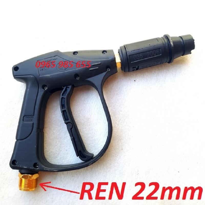Súng xịt rửa xe loại tốt - súng rửa xe ERGEN 6708 ren ngoài 22mm cho máy xịt áp lực cao