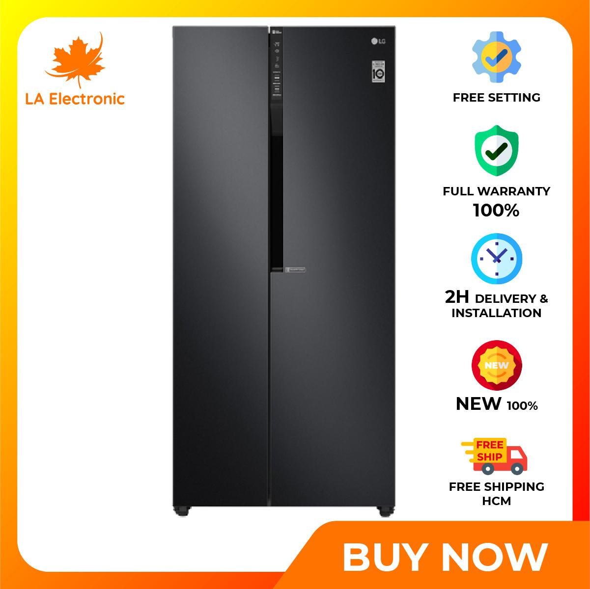 Trả Góp 0% - Tủ Lạnh LG Inverter 613 lít GR-B247WB Mới 2020 - Miễn phí vận chuyển HCM