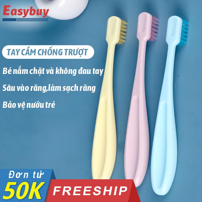Bộ 3 bàn chải đánh răng BÉ Ú bàn chải đánh răng dành cho trẻ em với đầu lông chải siêu mềm, bảo vệ răng miêng cho trẻ cao cấp