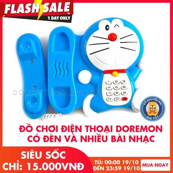 Điện thoại đồ chơi hình chú mèo máy xanh dương dùng pin có nhạc, đèn đáng yêu cho bé 127 - Đồ khuyến mãi giá tốt